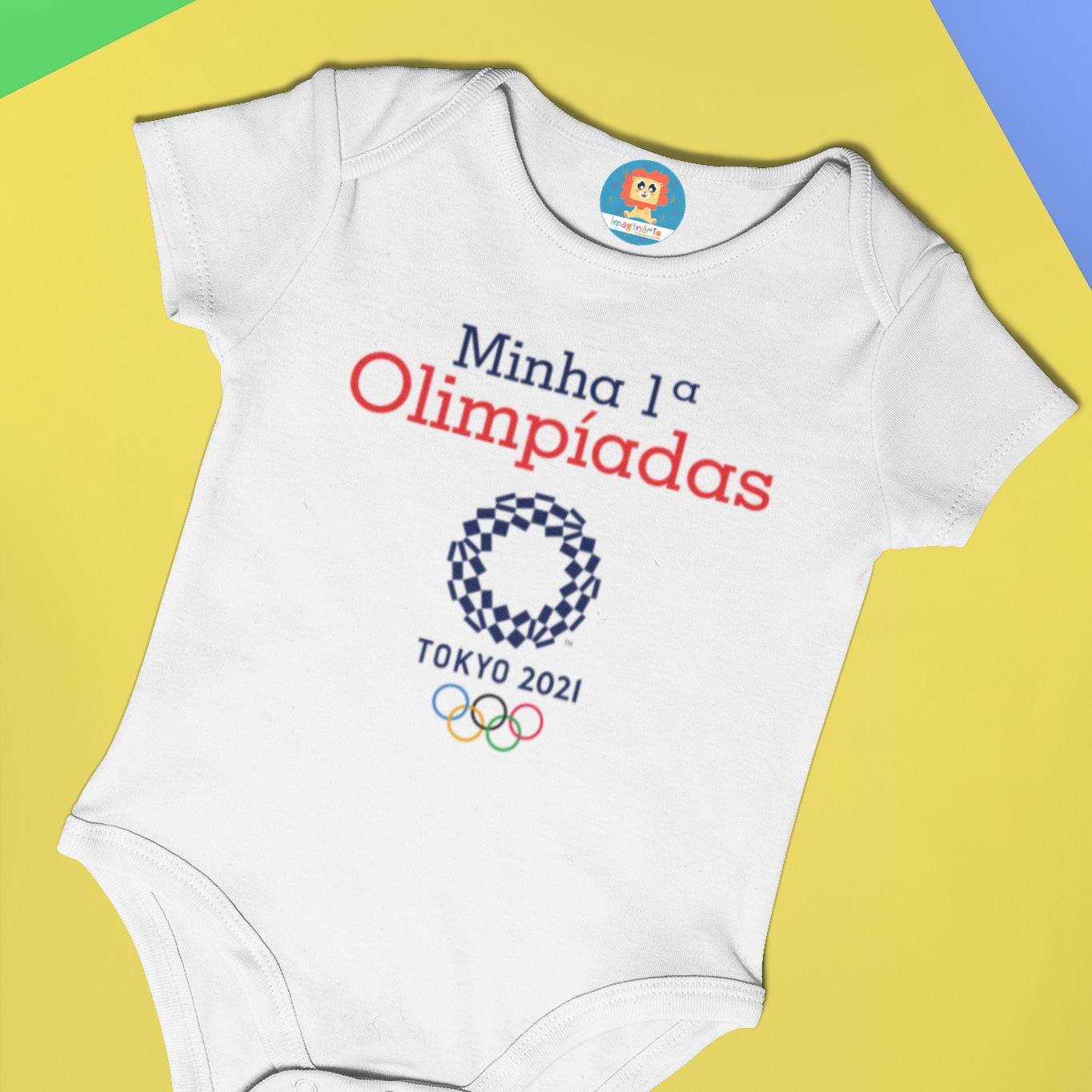 Body ou Camiseta Minha Primeira Olimpíadas 2021
