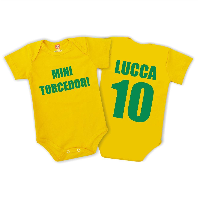 Body ou Camiseta Mini Torcedor Copa do Mundo
