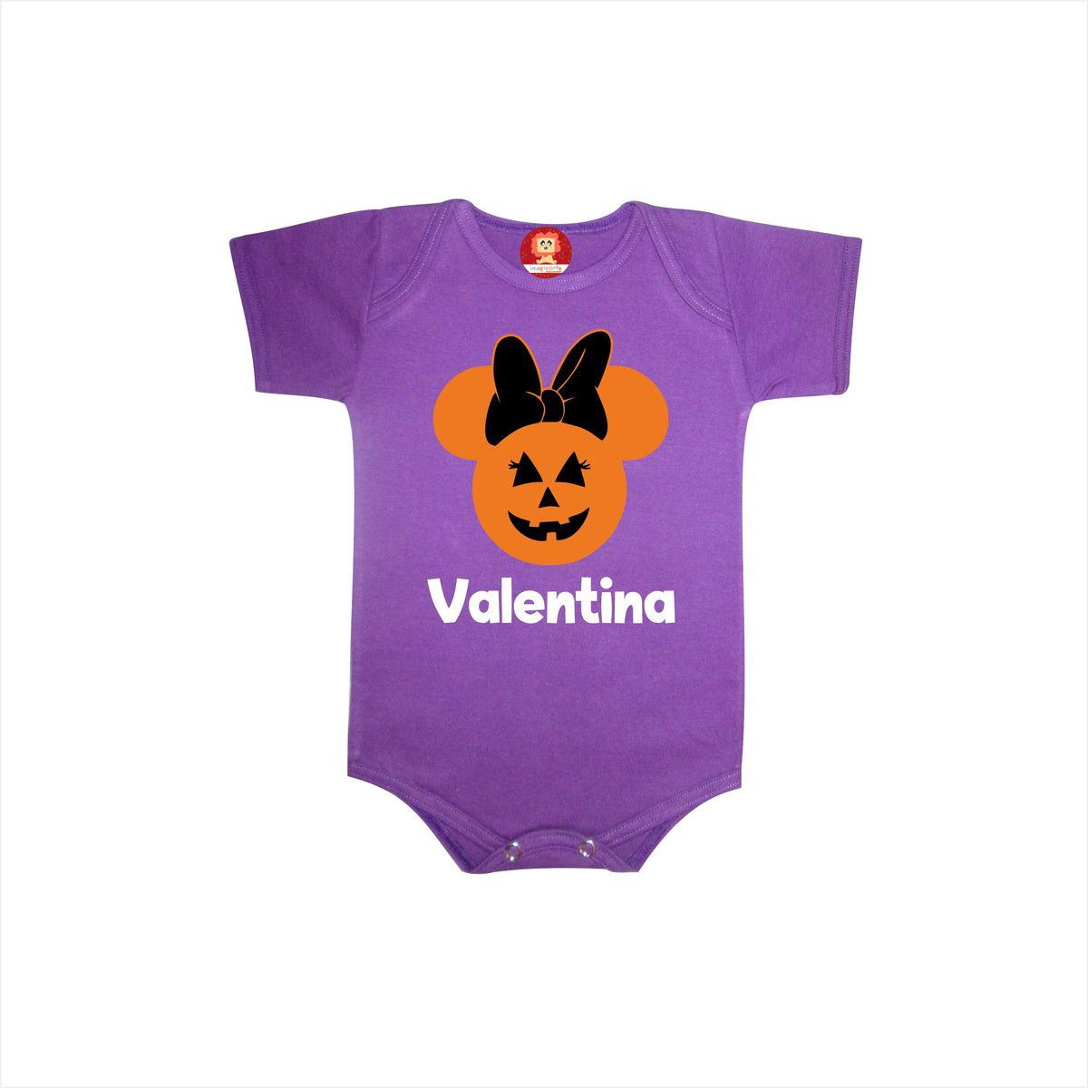 Body ou Camiseta Minnie ou Mickey Halloween