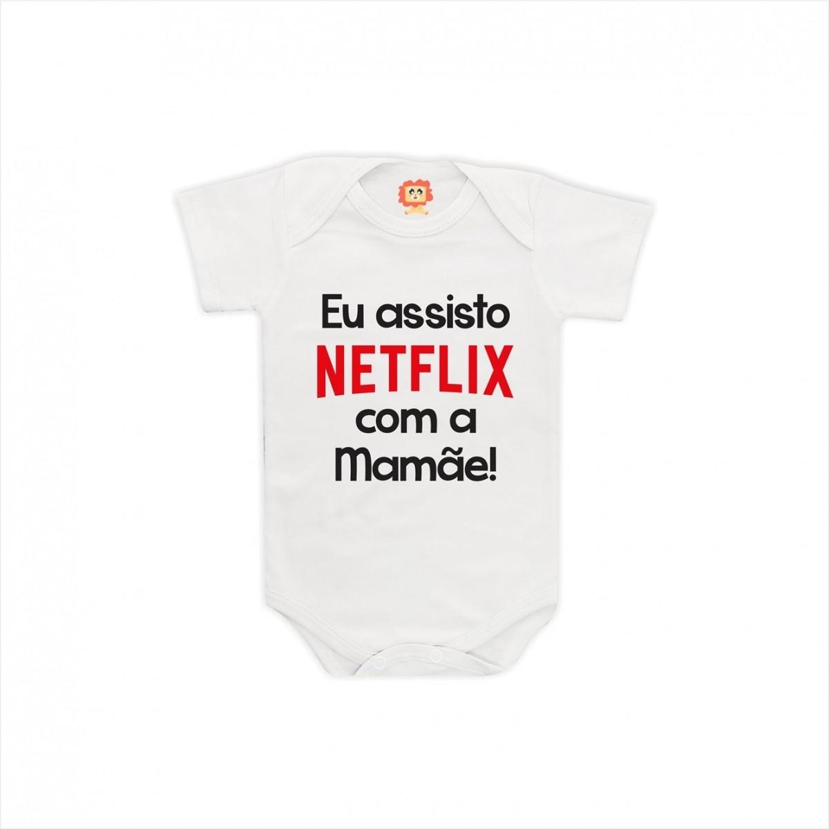 Body ou Camiseta Netflix com a Mamãe