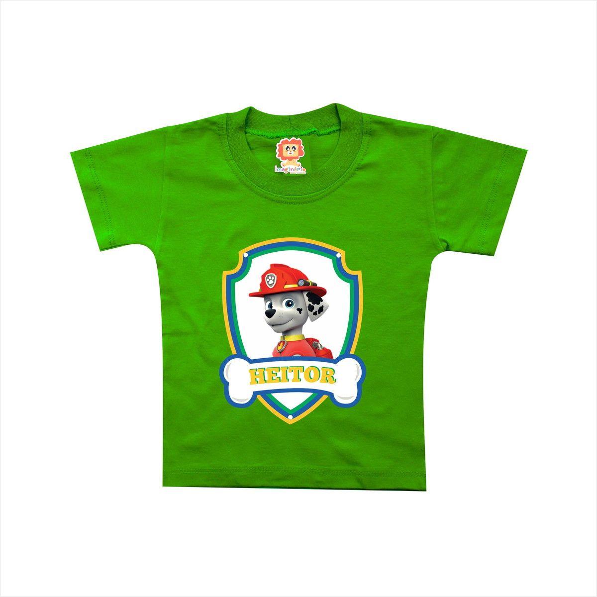 Body ou Camiseta Patrulha Canina Brasil Copa do Mundo - Marshall