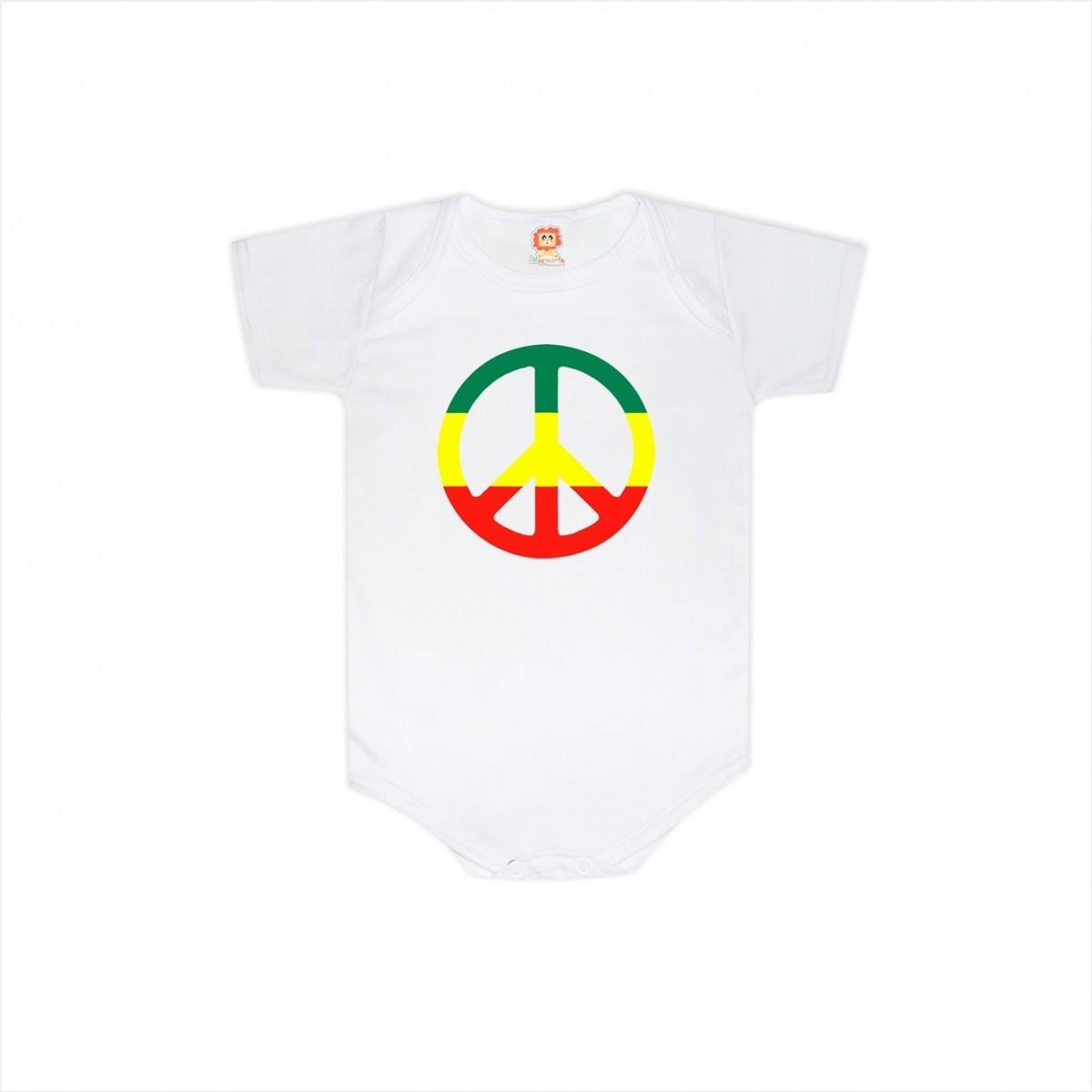 Body ou Camiseta Paz e Amor