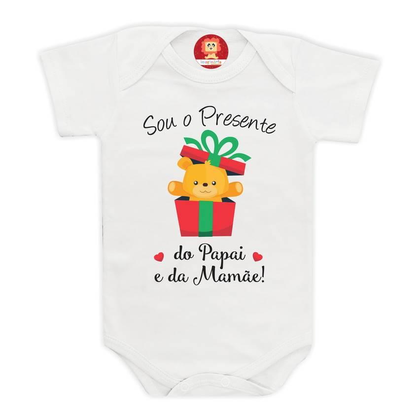 Body ou Camiseta Presente do Papai e da Mamãe