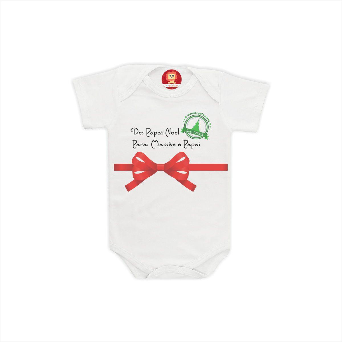 Body ou Camiseta Presente Para Mamãe e Papai
