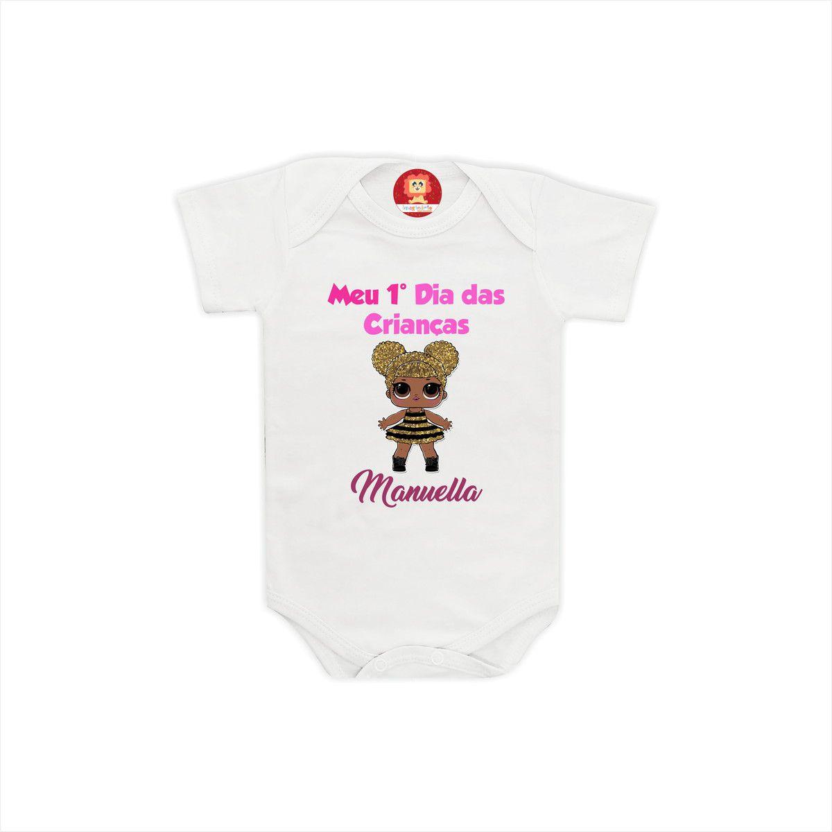 Body ou Camiseta Primeiro Dia das Crianças LOL
