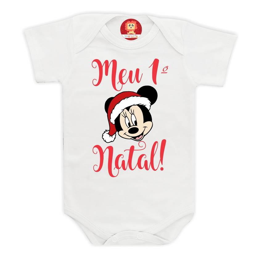 Body ou Camiseta Primeiro Natal Disney Menino ou Menina