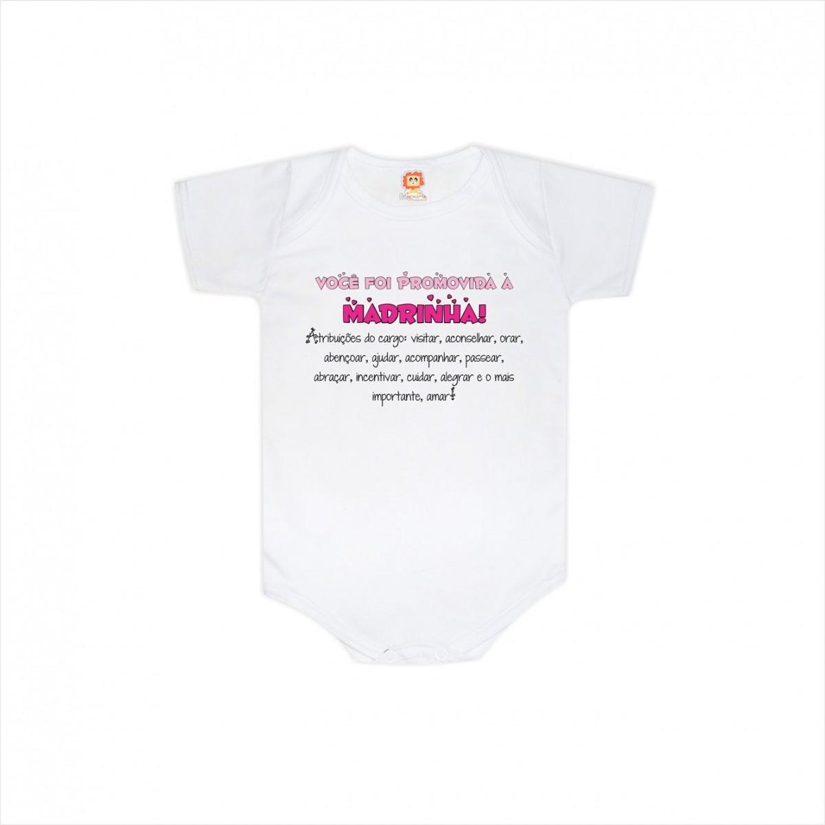 Body ou Camiseta Promovida a Madrinha