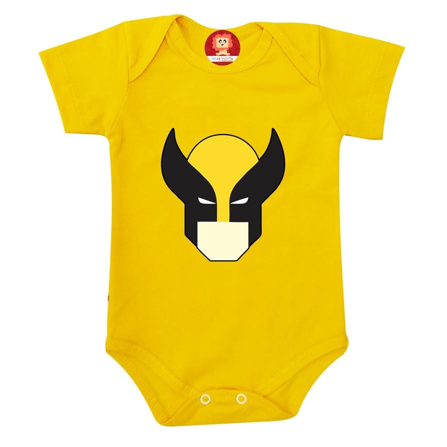 Body ou Camiseta Wolverine Logan Liga da Justiça Super Heróis