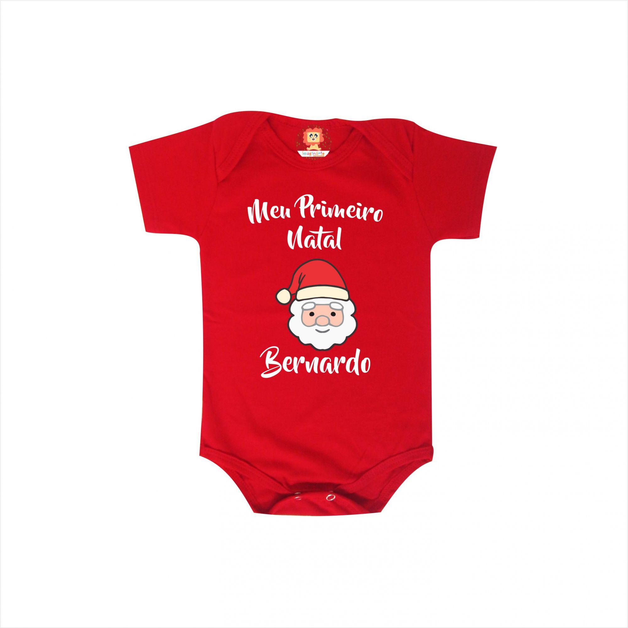 Body Personalizado Meu Primeiro Natal com Nome