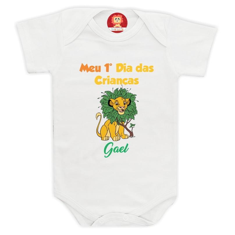Body Primeiro Dia das Criança Simba Rei Leão