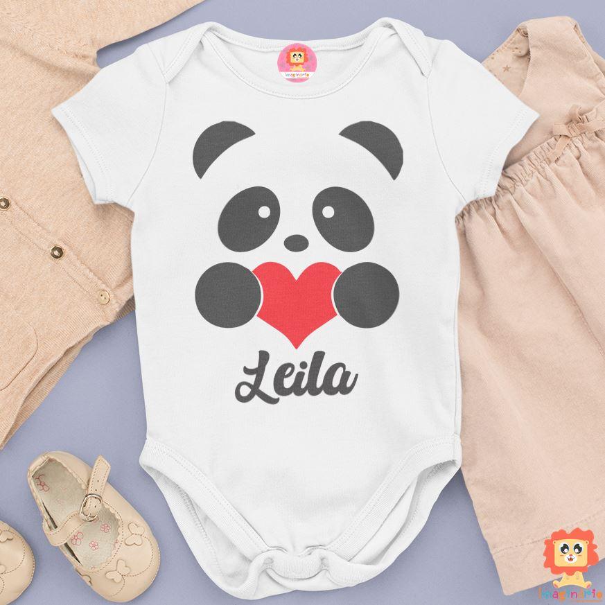 Body Ursinho Panda Personalizado Com Nome