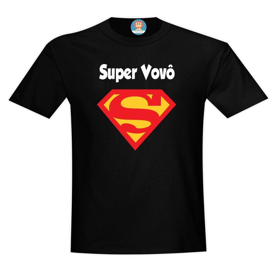 Camiseta Adulto Preta Super Vovô
