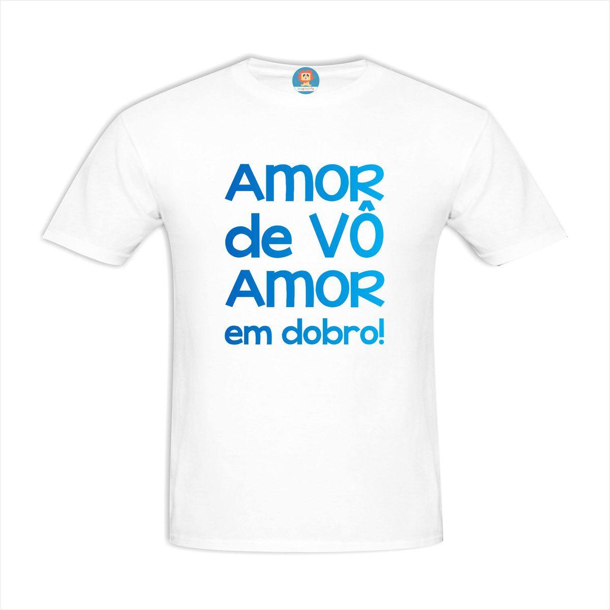 Camiseta Amor de Vô Amor em Dobro