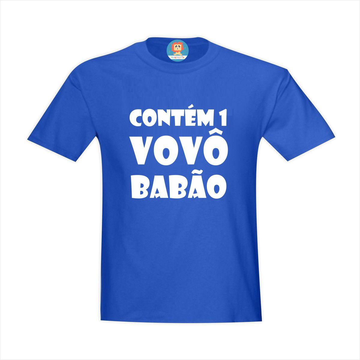 Camiseta Contém 1 Vovô Babão