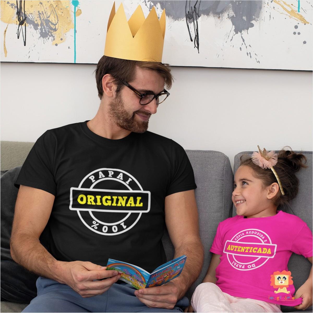 Camiseta Dia dos Pais Original e Cópia do Papai