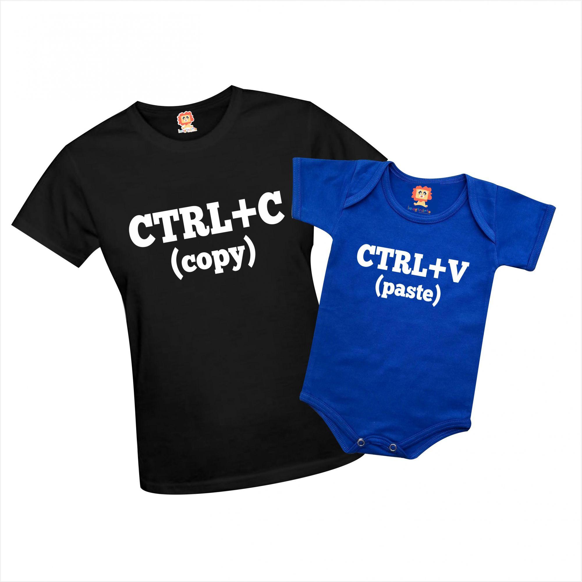 Camiseta e Body Ctrl+C / CTRL+V Mãe e Filha