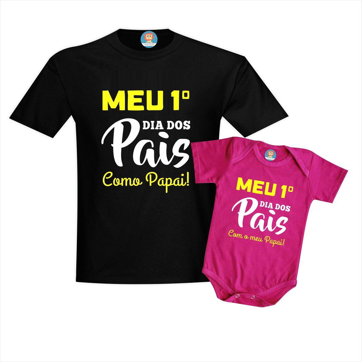 Camiseta e Body de Bebê Meu Primeiro Dia dos Pais