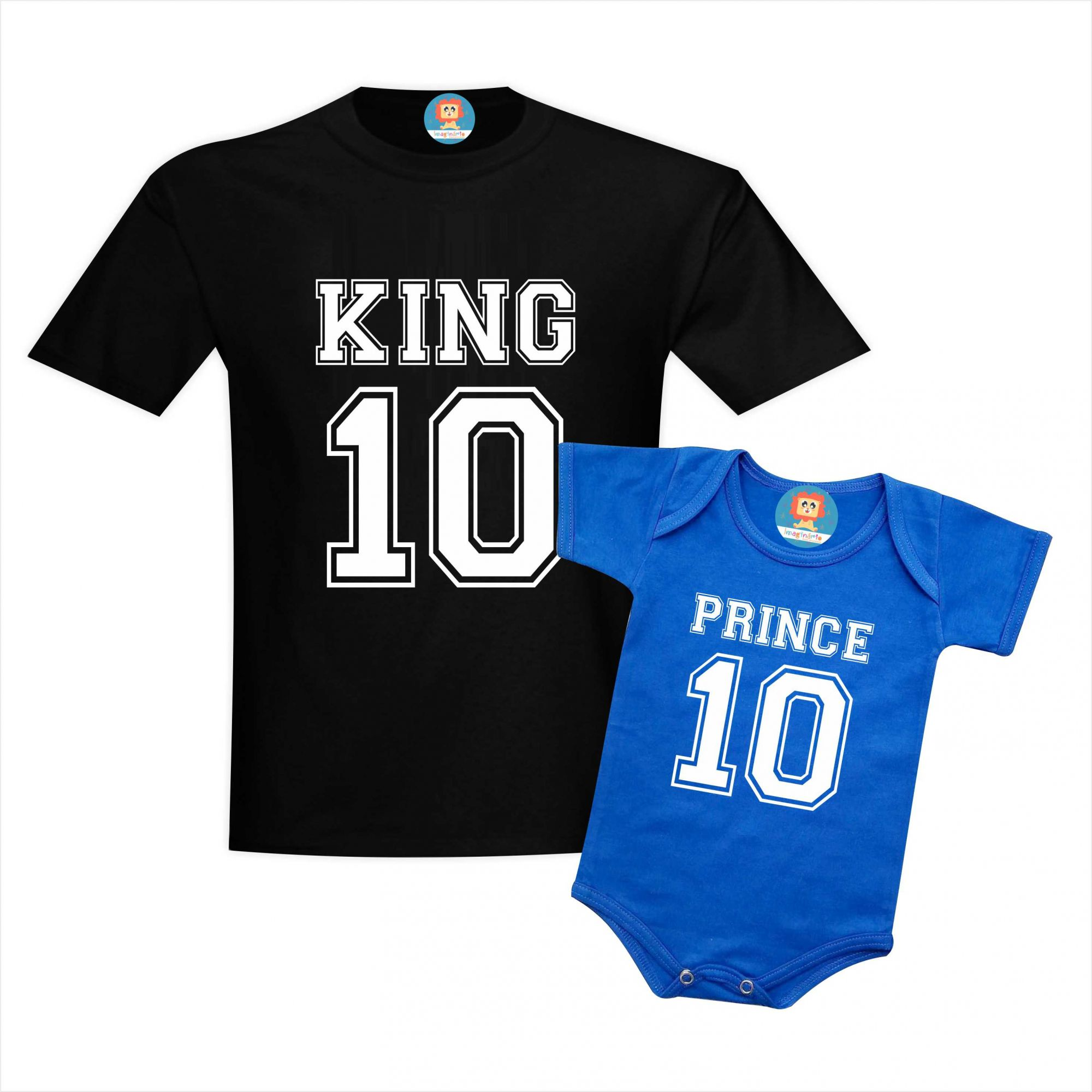 Camiseta e Body King e Prince ou Princess