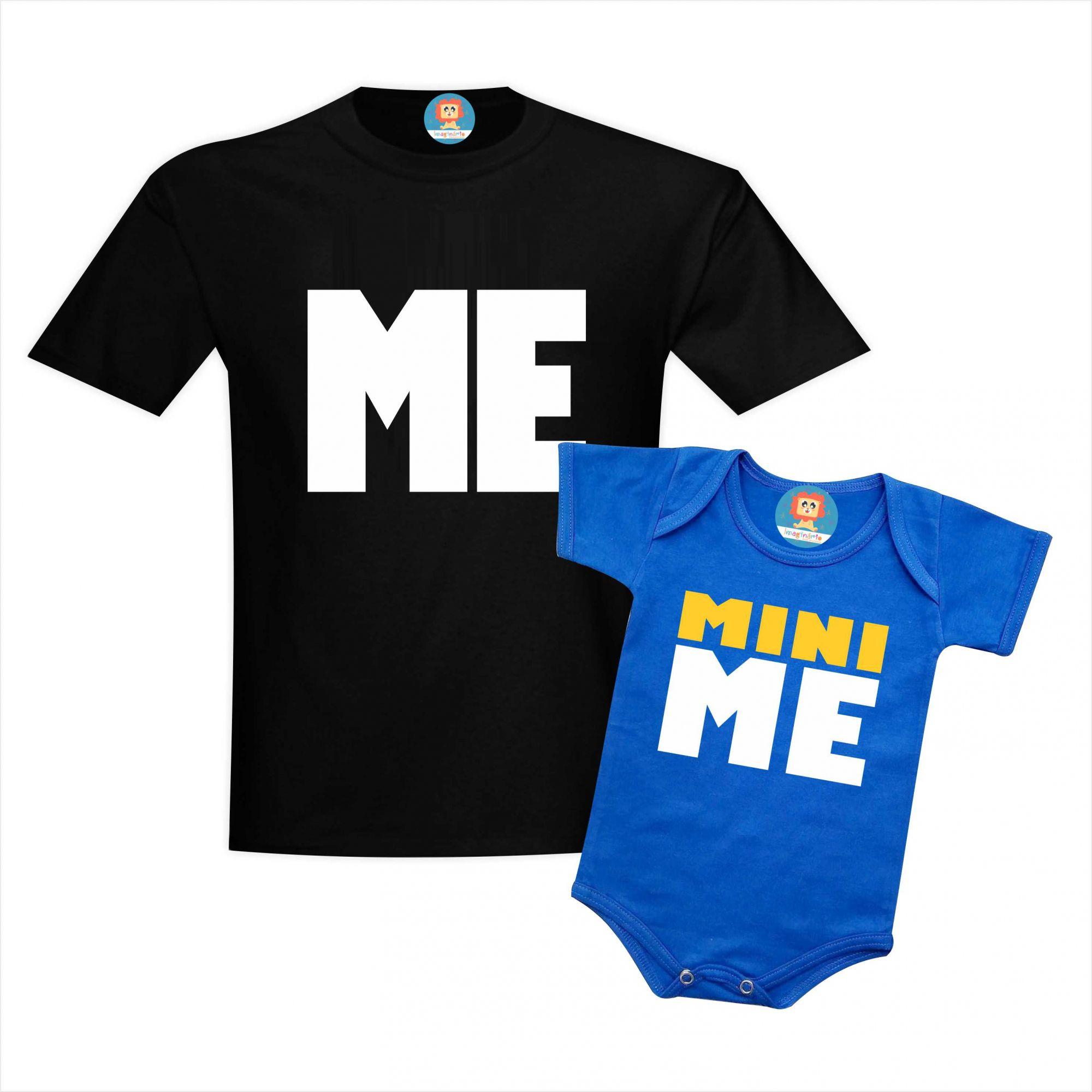 Camiseta e Body ou Camiseta Infantil Me & Mini Me
