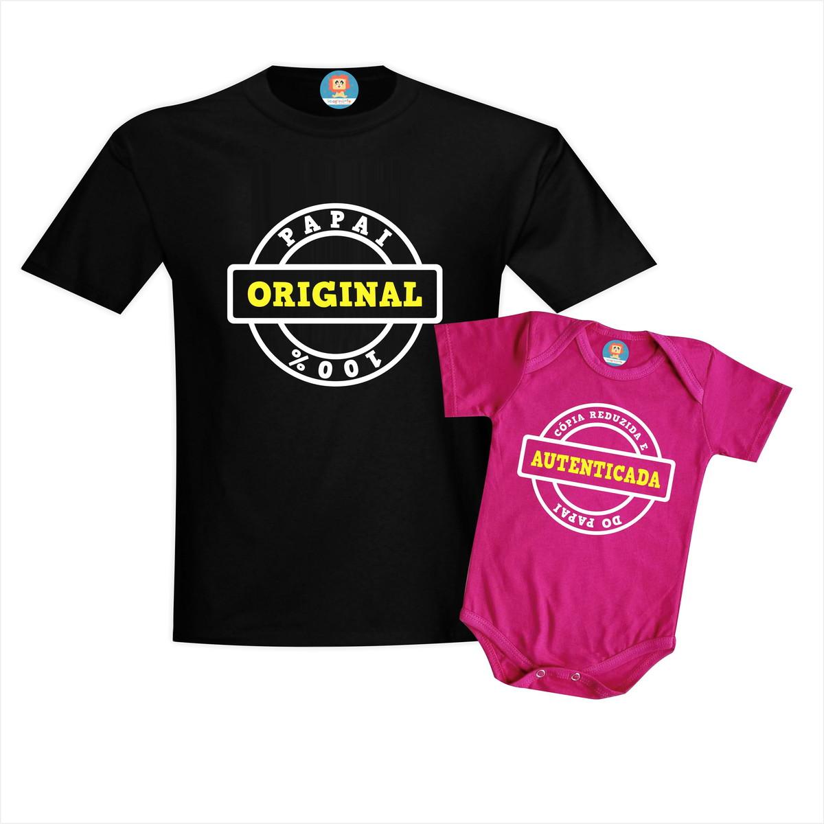 Camiseta e Body ou Camiseta Infantil Original e Cópia - Cópia do Papai
