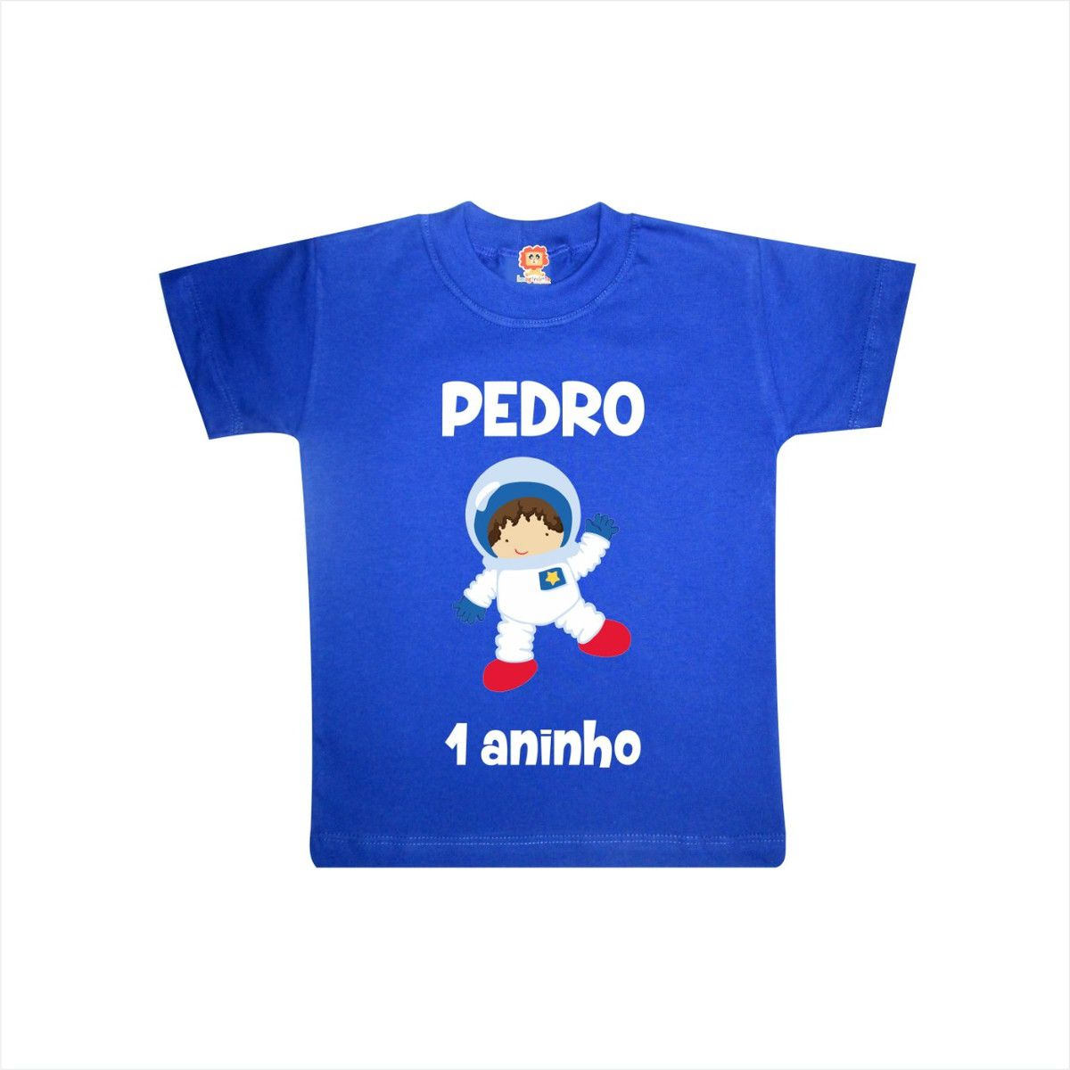 Camiseta Infantil de Aniversário Astronauta