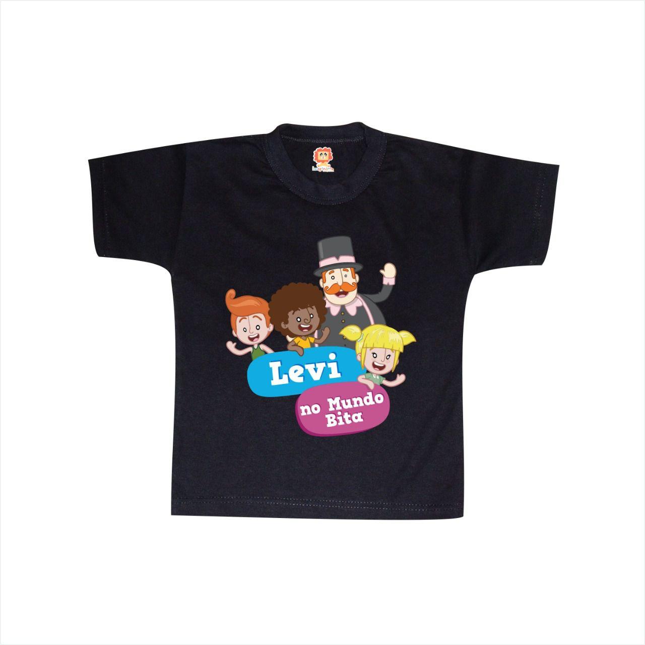 Camiseta Infantil de ANiversário Mundo Bita