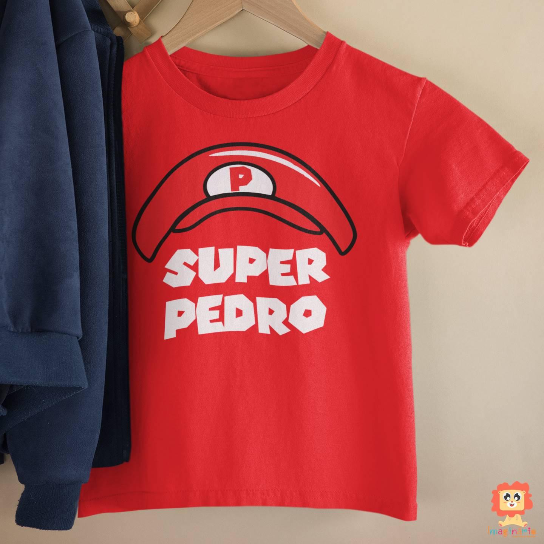 Camiseta Infantil Game Chapéu Super Mario