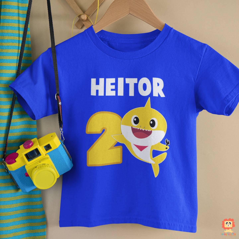 Camiseta Infantil ou Body Baby Shark com Nome