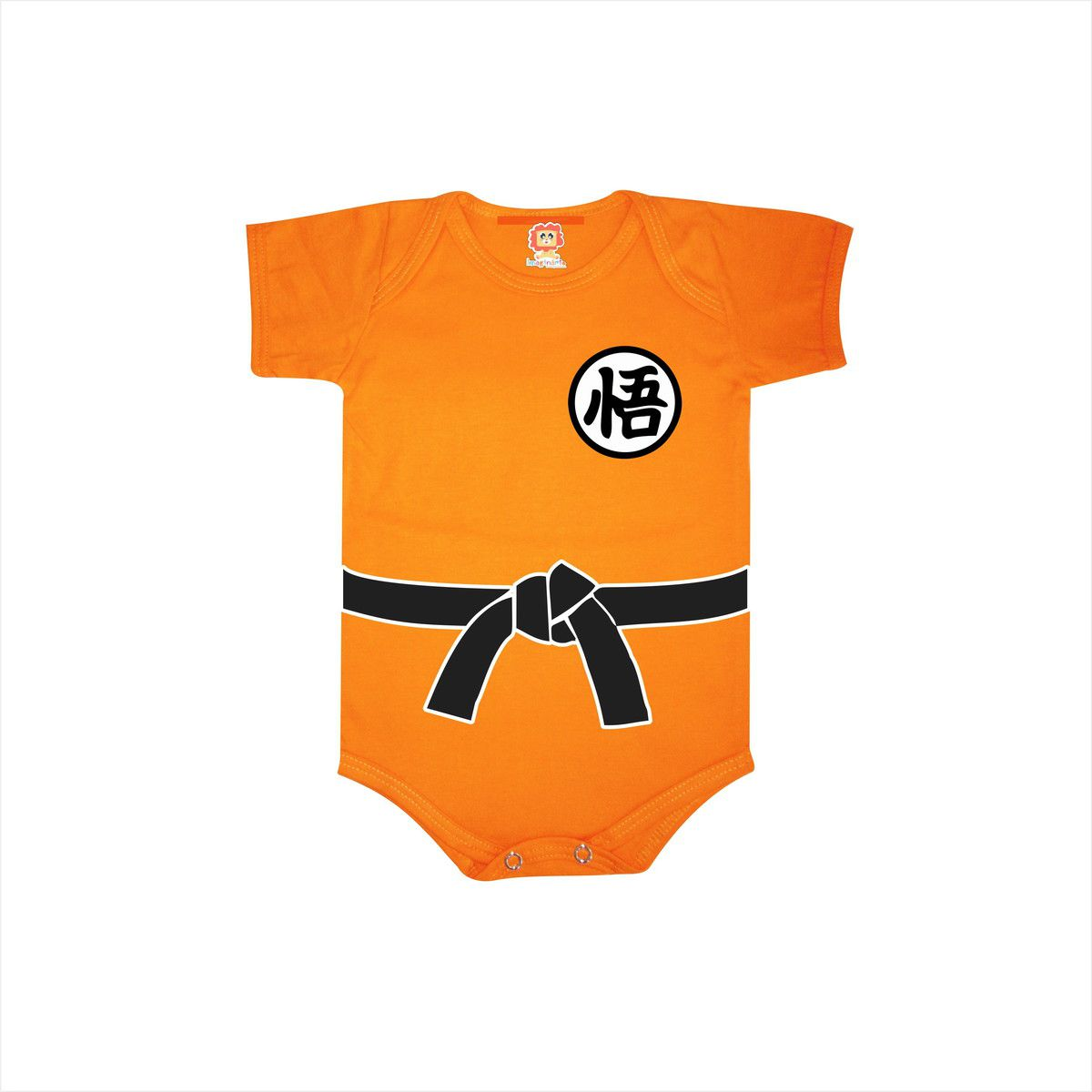Camiseta Infantil ou Body de Bebê Dragon Ball Roupinha Goku