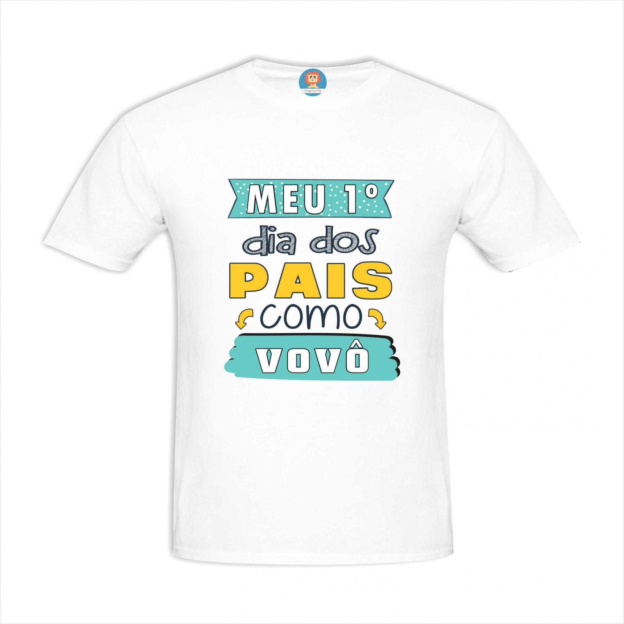 Camiseta Meu Primeiro Dia dos Pais como Vovô