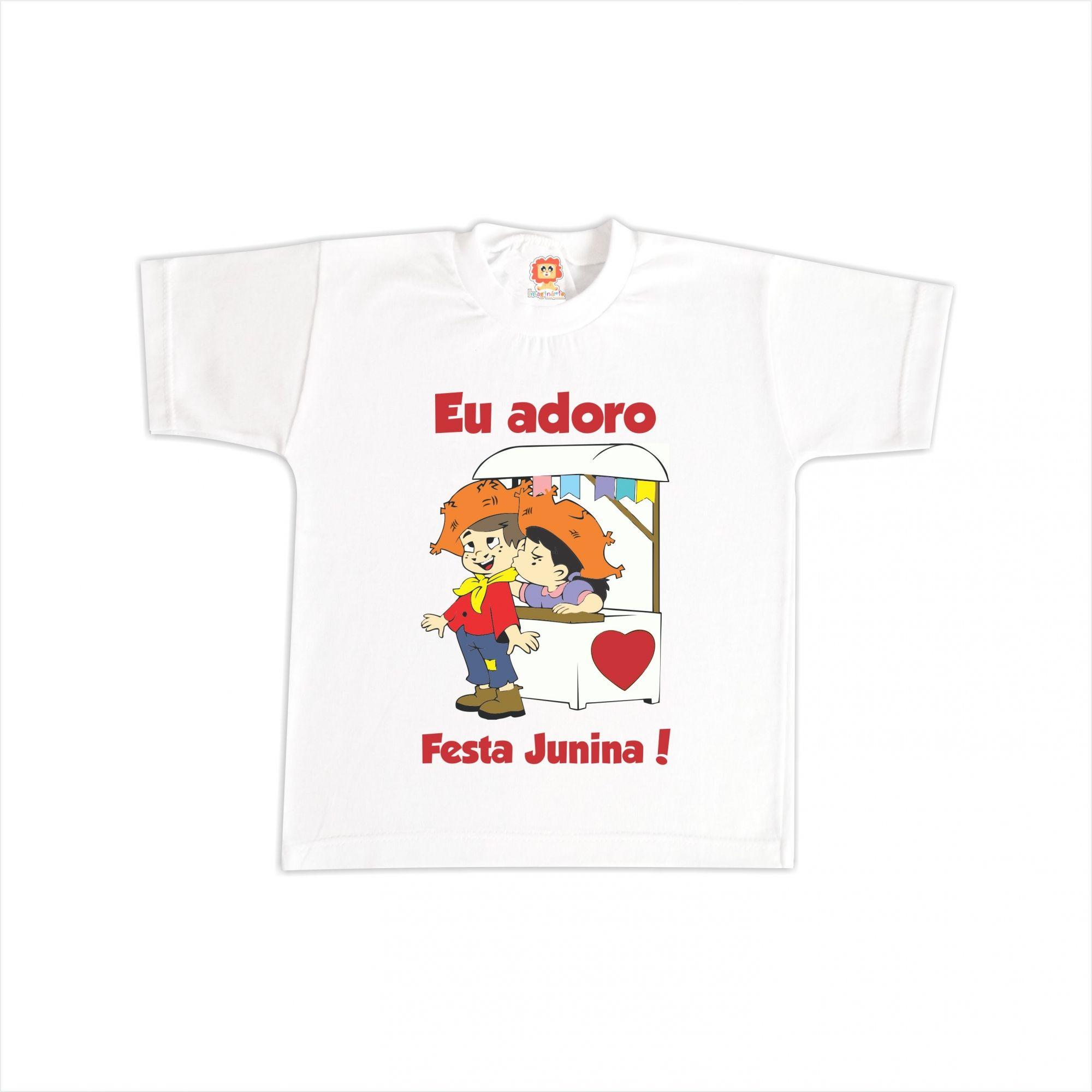 Camiseta ou Body Adoro Festa Junina