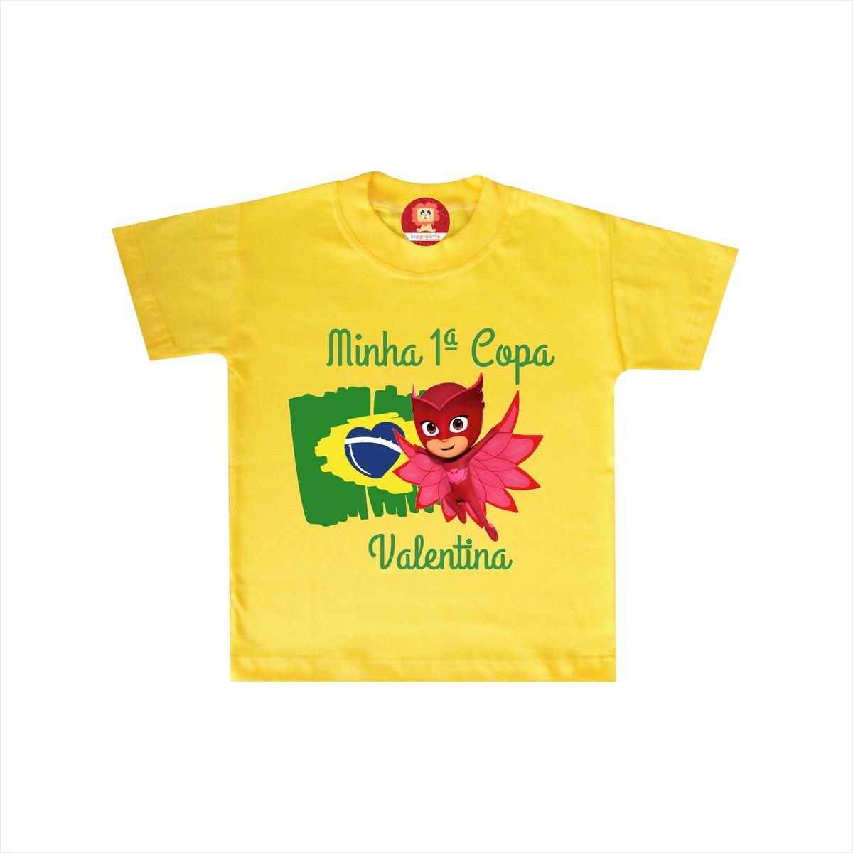 Camiseta ou Body Corujita PJ Masks na Copa do Mundo