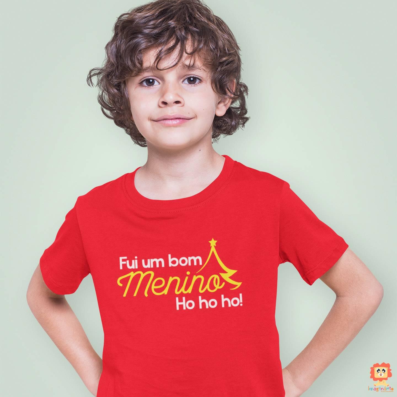 Camiseta ou Body de Natal Fui um bom Menino!