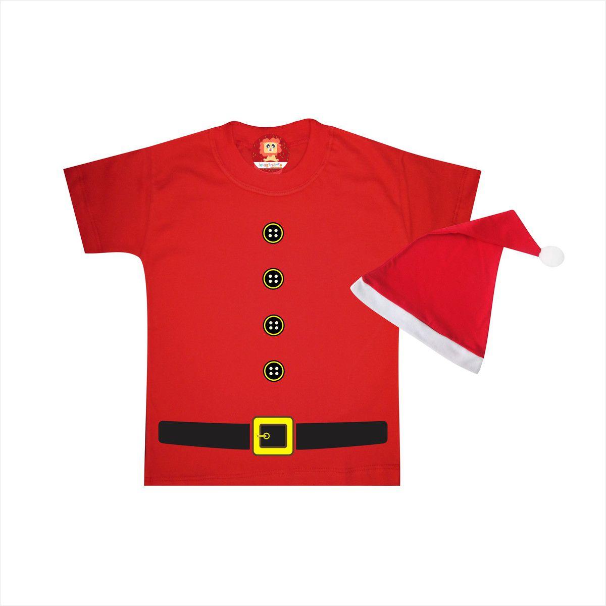 Camiseta ou Body de Natal Menina Noel