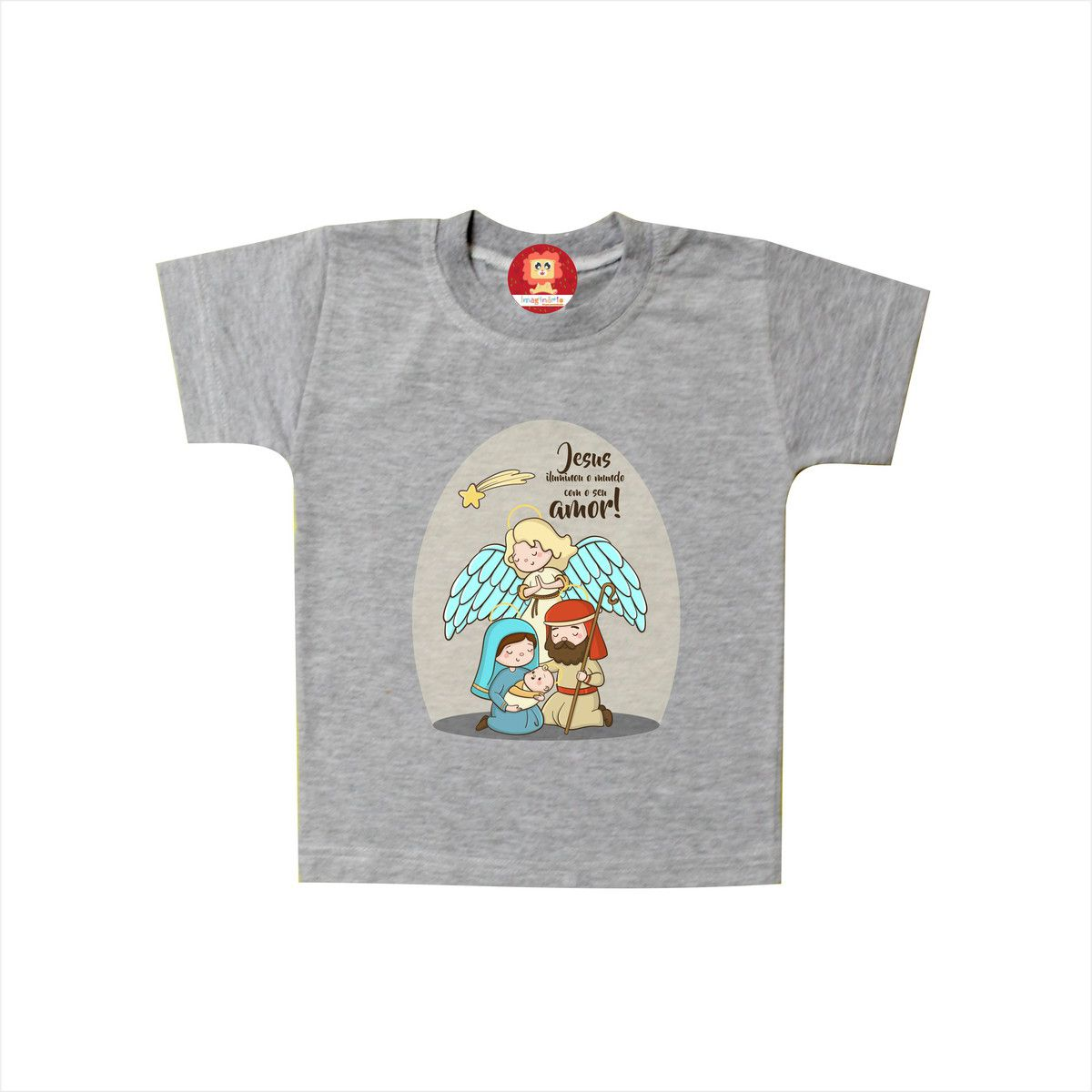 Camiseta ou Body Infantil de Natal Presépio Jesus