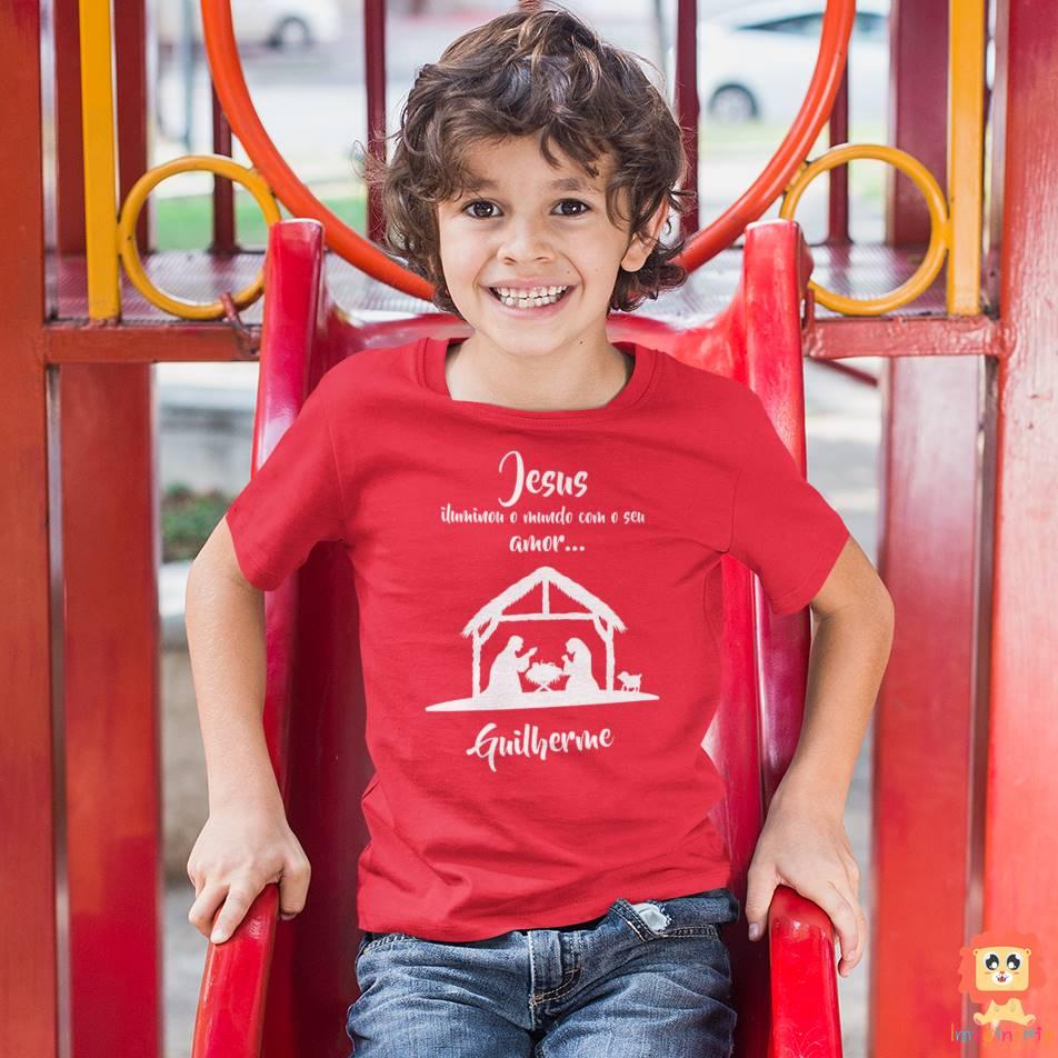 Camiseta ou Body Jesus Iluminou o Mundo