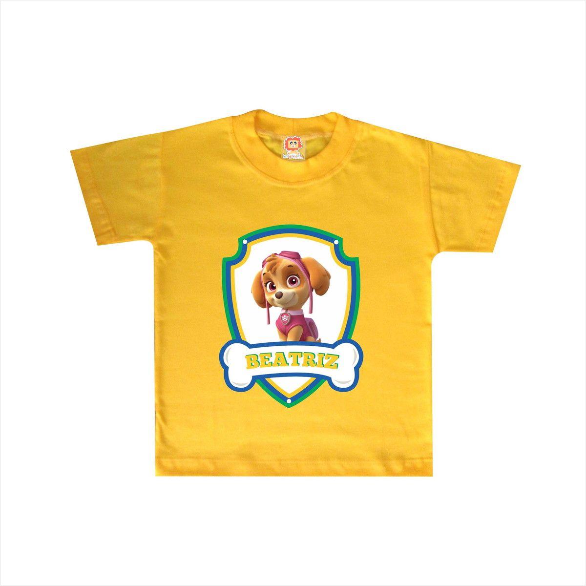 Camiseta ou Body Patrulha Canina Skye - Copa do Mundo Brasil