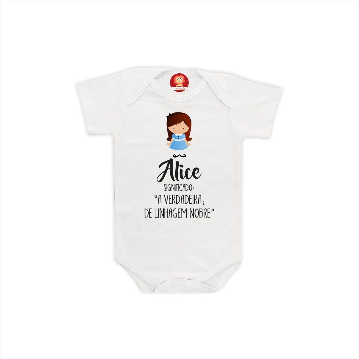 Camiseta ou Body Personalizado Com Nome