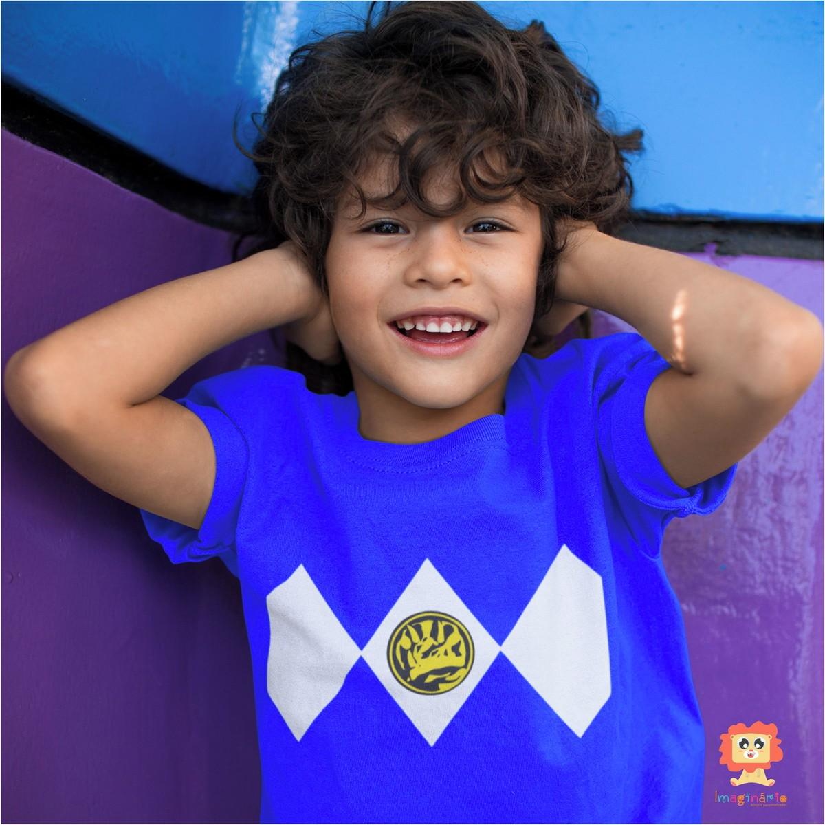 Camiseta ou Body Power Ranger Azul
