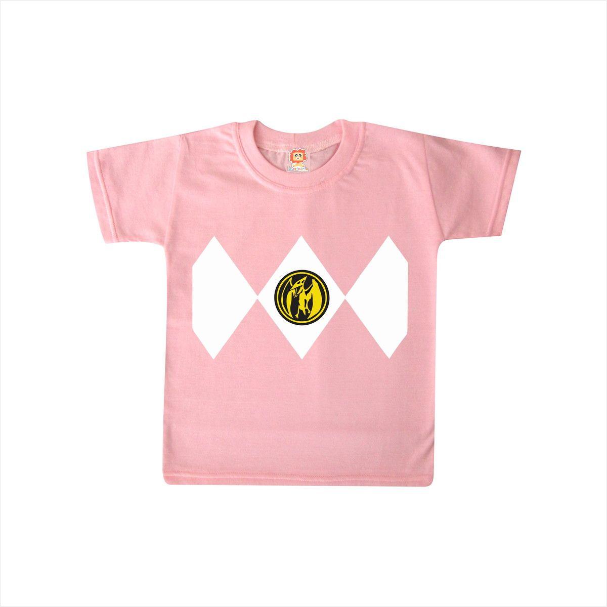 Camiseta ou Body Power Ranger Rosa