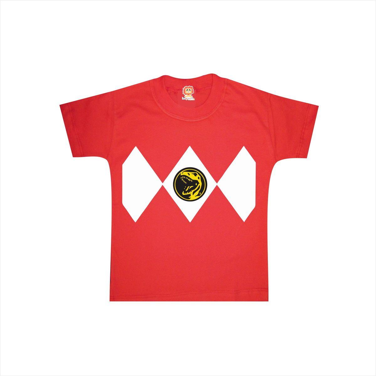 Camiseta ou Body Power Ranger Vermelho