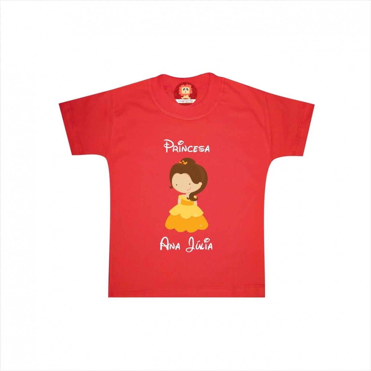 Camiseta ou Body Princesa Bela