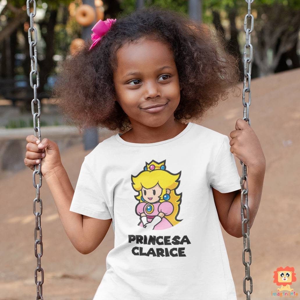 Camiseta ou Body Princesinha Super Mario