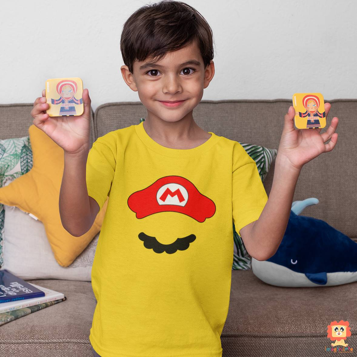 Camiseta ou Body Super Mario Bigode