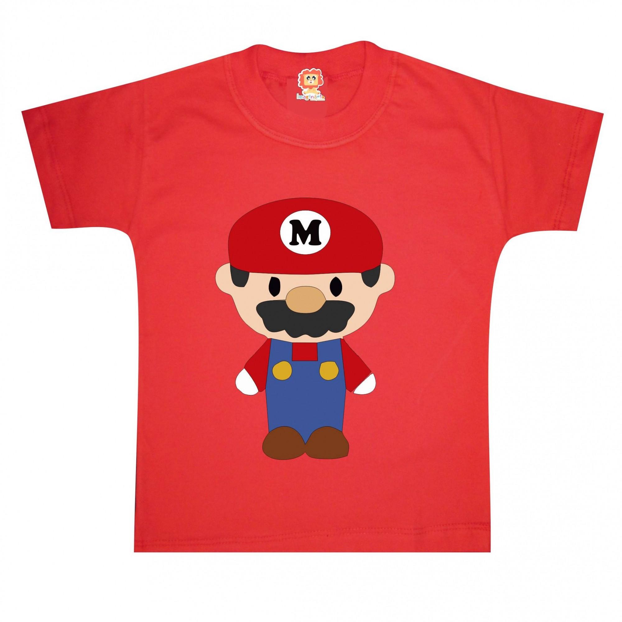 Camiseta ou Body Super Mario Cute