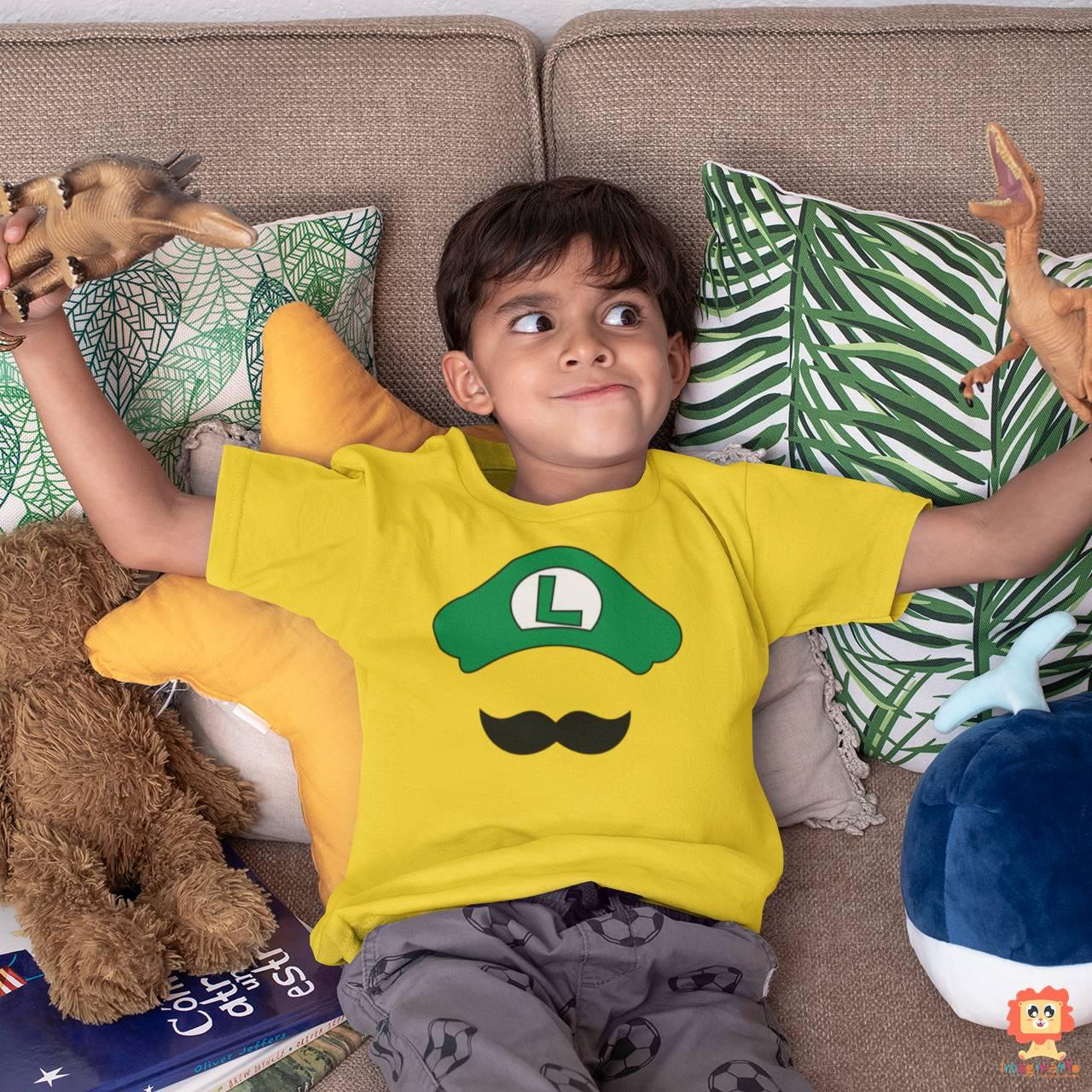 Camiseta ou Body Super Mario Luigi