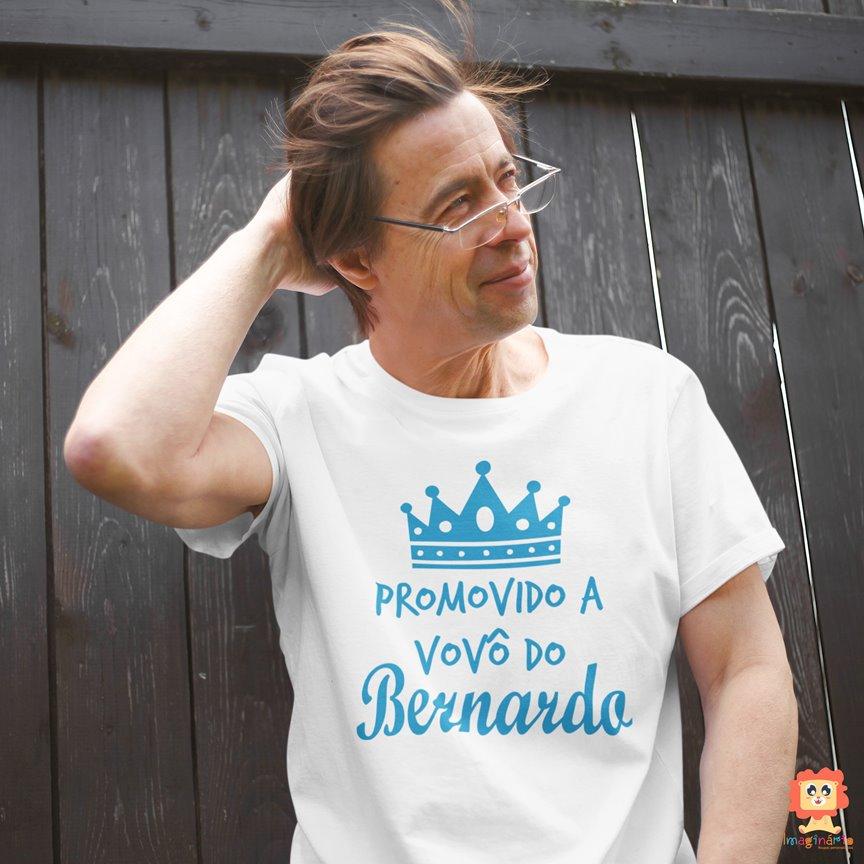 Camiseta Personalizada com Nome do Neto Promovido a Vovô
