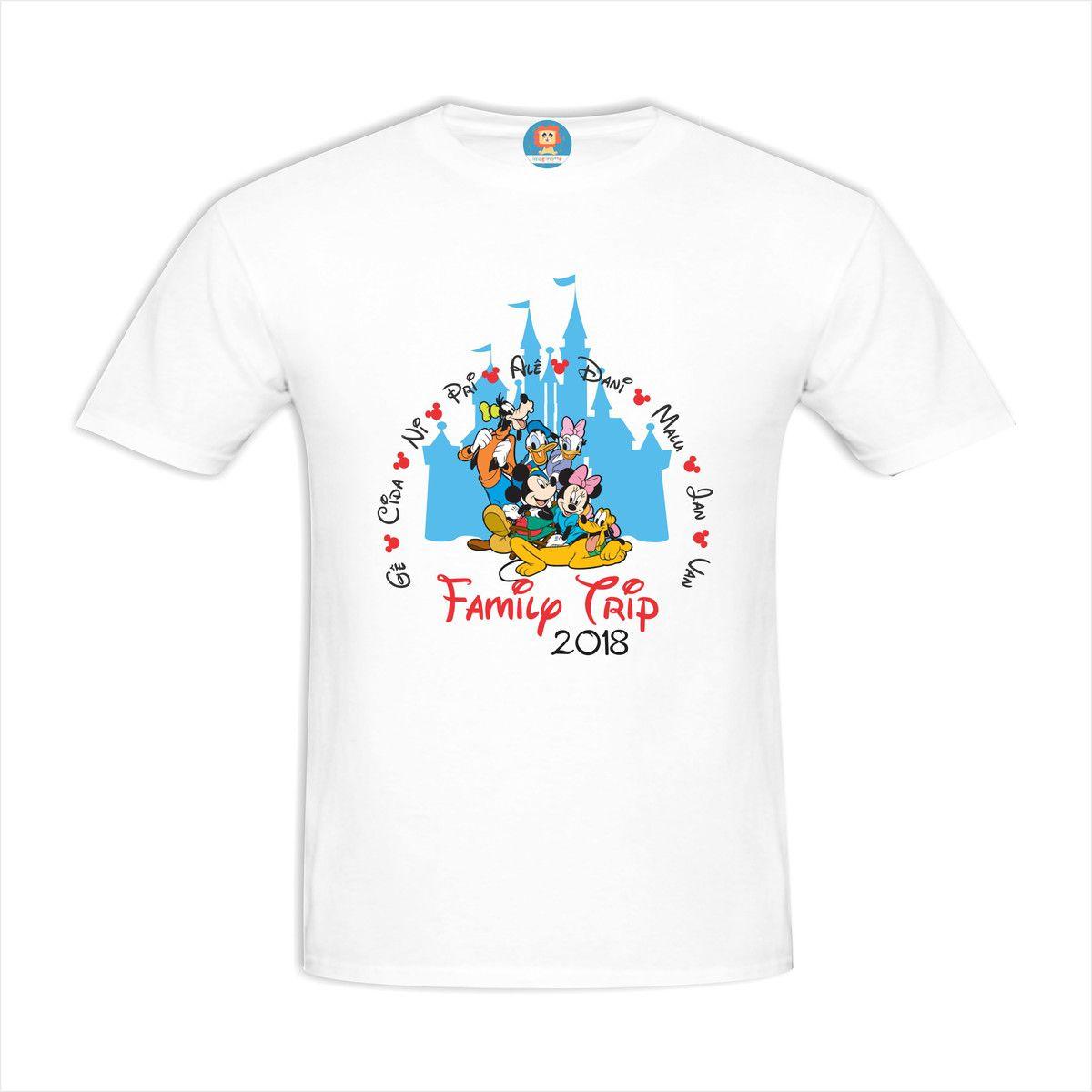 Camiseta Personalizada Family Trip Disney com Nomes
