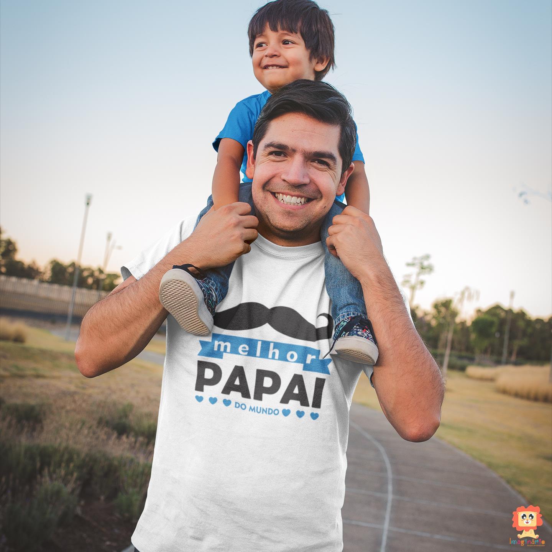 Camiseta Primeiro Dia dos Pais Melhor Papai do Mundo