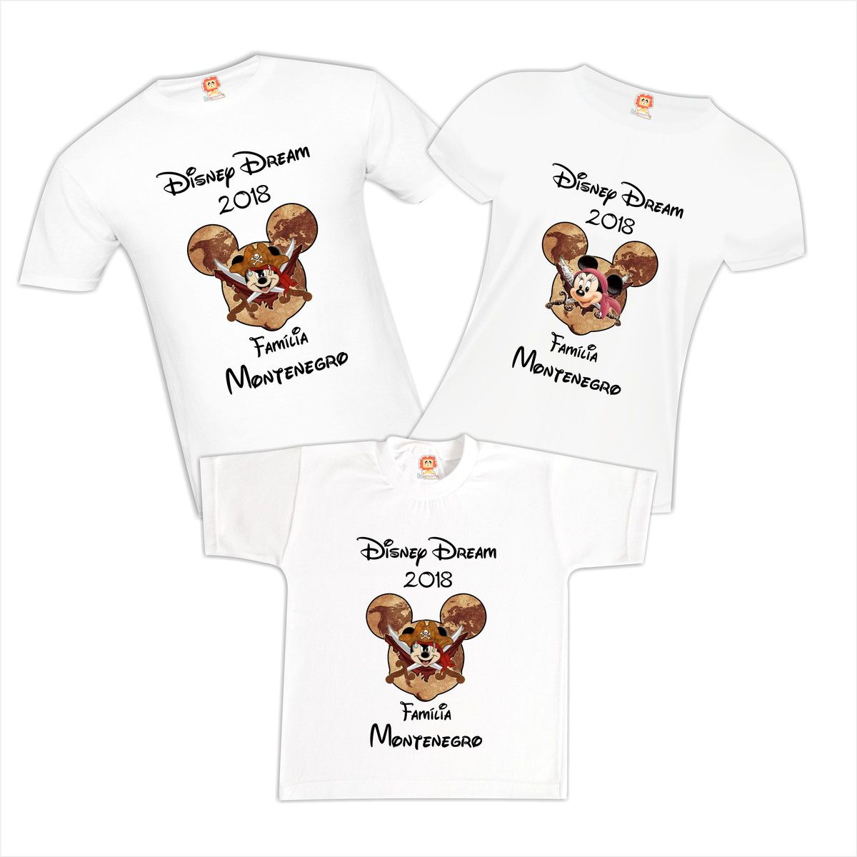 Camiseta Viagem Disney Mickey e Minnie Pirata